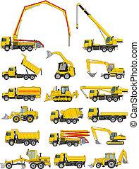 veículos, construção