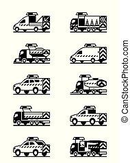veículos, estrada, manutenção