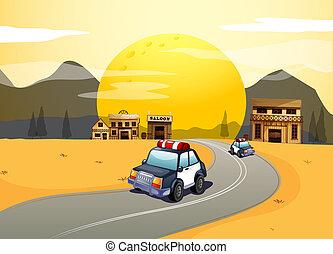 veículos, estrada