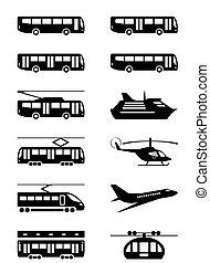 veículos passageiro, transporte