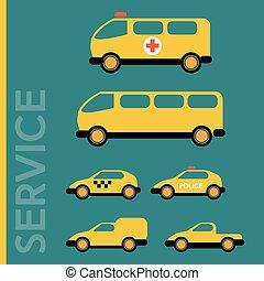 veículos, vário, serviço
