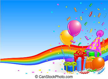 večírek k narozeninám, grafické pozadí