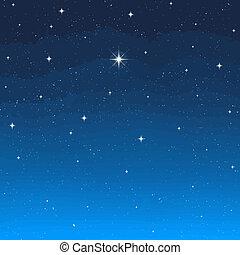večer, hvězda
