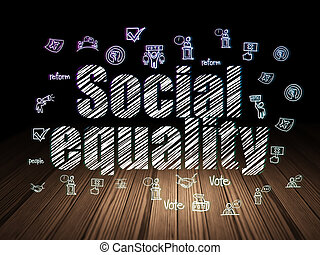 veřejný, concept:, společenský, rovnost, do, grunge, nesrozumitelný vůle