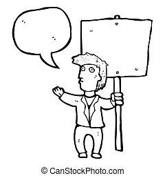 veřejný, odporovat, karikatura
