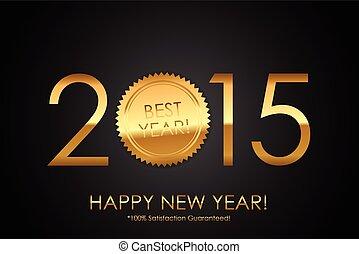 ve, certificado, 100%, -, satisfação, 2015, guaranteed!, year!, melhor