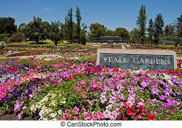 Veale Gardens, popular public garden on Adelaide CBD ...
