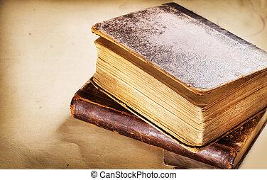 vecchi libri, closeup