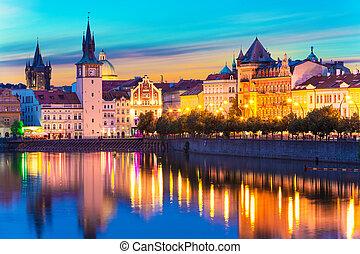 vecchia città, in, praga, repubblica ceca