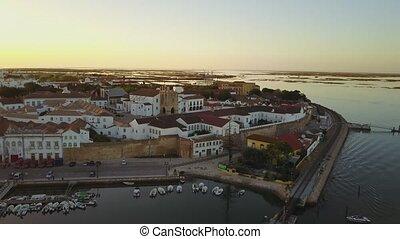 vecchia città, portogallo, faro, mezzo, storico, cattedrale,...
