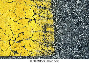 vecchio, asfalto, astratto, vernice, fondo, strada