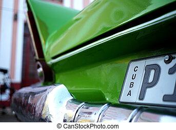 vecchio, automobile, in, avana, cuba