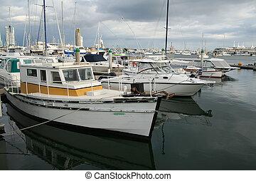 vecchio, barche, e, nuovo, barche
