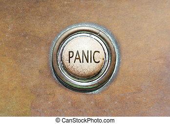 vecchio, bottone, -, panico