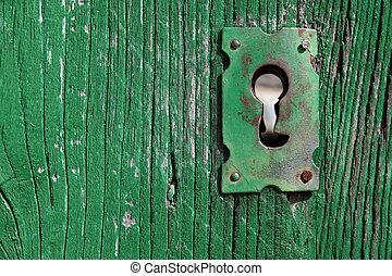 vecchio, buco serratura