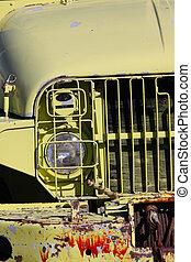 vecchio camion, abbandonato, esercito