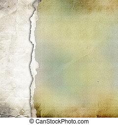 vecchio, carta lacerata, fondo., struttura