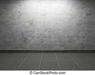 vecchio, cemento, parete