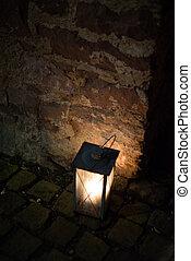 vecchio, cherosene, lanterna