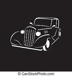 vecchio, classico, look., vendemmia, automobile., fashioned.