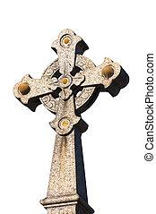 vecchio, croce, gravestone.