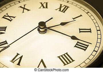 vecchio, faccia orologio