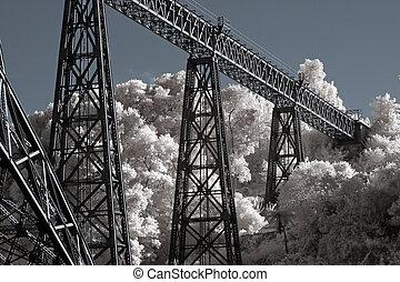 vecchio, ferro, ponte