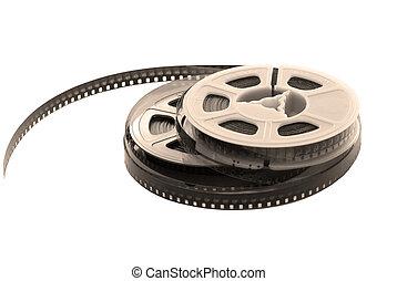 vecchio, film, con, bobina
