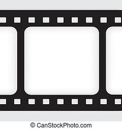 vecchio, film, filmstrip., frame., conclusione