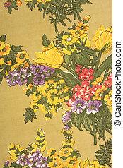 vecchio, fiore, tessuto, struttura