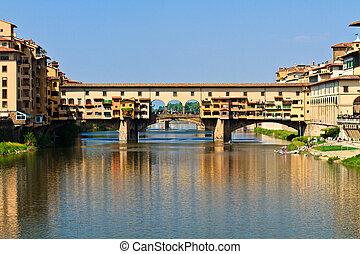 vecchio, florencia, toscana, puente, ponte