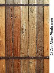 vecchio, fondo, parete, legno