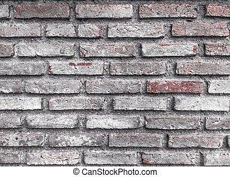vecchio, fondo, parete, mattone