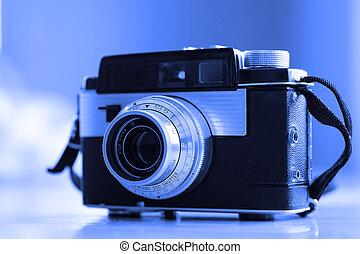 vecchio, fotografia, manuale, lente, apparecchiatura, macchina fotografica