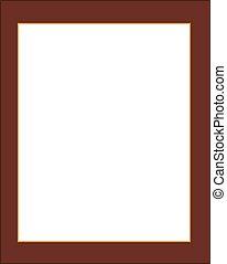 vecchio, frame., molto, isolato, fondo., legno, bianco