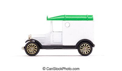 vecchio giocattolo, metallo, automobile