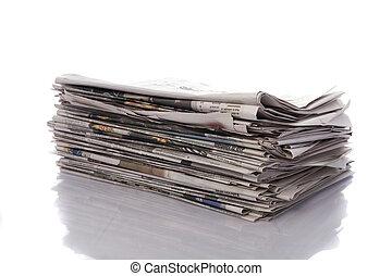 vecchio, giornali, pubblicazione periodica