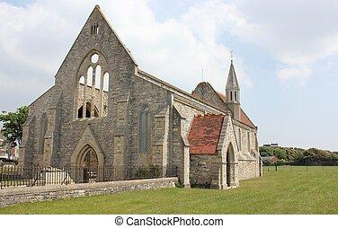 vecchio, guarnigione, chiesa
