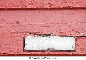 vecchio, indirizzo, piastra