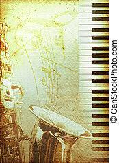 vecchio, jazz, carta