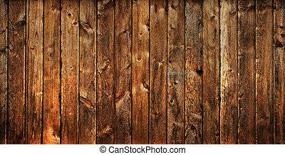 vecchio, legno, portato, fondo, assi, fuori