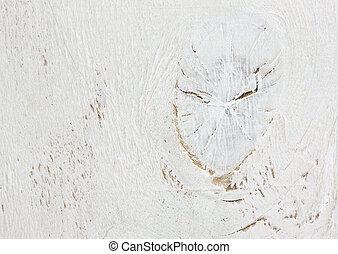 vecchio, legno, portato, fondo, textured, bianco