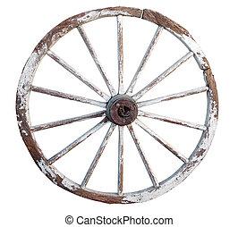 vecchio, legno, ruota