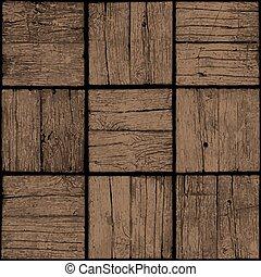 vecchio, legno, seamless, floor., fondo., vector., parquet, grunge, tavola, o