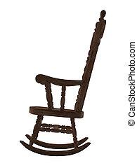 Sedia dondolo illustrazioni e clipart sedia - Sedia a dondolo disegno ...