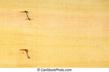vecchio, legno, unghia, struttura, parete, legno, fondo