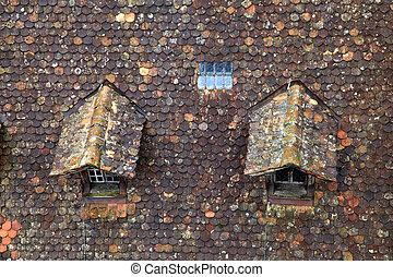 Casa vecchio abbaino autunno casa vecchio albero for Abbaino tetto prezzi