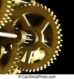 vecchio, meccanismo, orologio