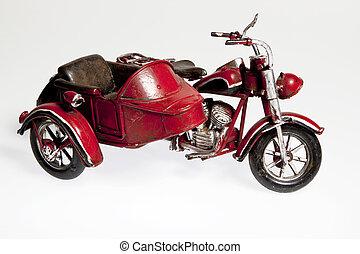 vecchio, motocicletta, sidecar