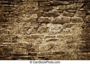 vecchio, muro pietra, fondo